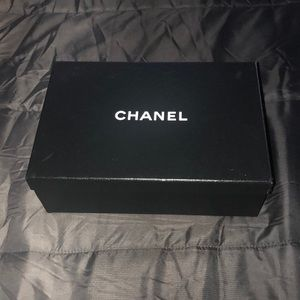 Chanel collectible shoe box with tissue paper